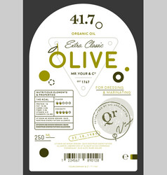 organic extra virgin olive oil label vector image vector image
