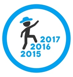 Person steps years icon vector