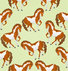 Seamless texture piebald horses stallions vector
