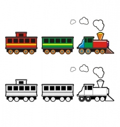 toy train vector image vector image