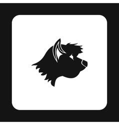 Terrier dog icon simple style vector