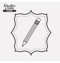 Pencil tool instrument design vector