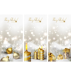 Christmas greeting-cards vector image