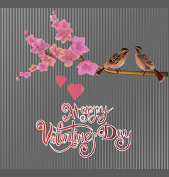 Valentines day party poster design vector