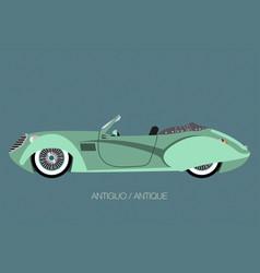 Vintage convertible car vector