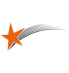 logo flying star meteorite logo vector image