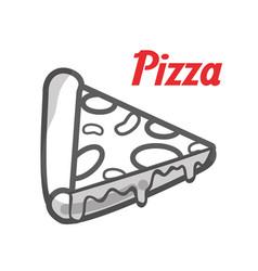 Delicious pizza fast food icon vector