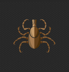 Tick borne diseases icon logo design vector