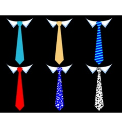 Mens ties vector