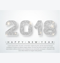 2018 happy new year vector image