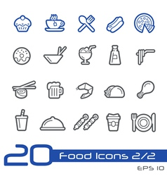 Food icons outline series vector