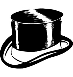 top hat design vector image