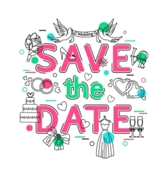 Save the date - wedding background with vector