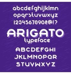Arigato typeface vector