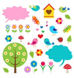 Birdstrees and bubbles for speech vector image