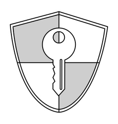 shield with hey vector image