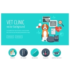 Vet clinic web design concept for website and vector