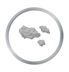 Asteroid icon in cartoon style isolated on white vector