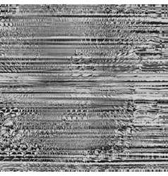 Black and gray image Art abstract glitch textured vector image