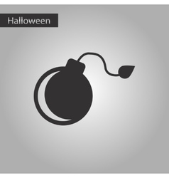 black and white style icon bomb vector image vector image