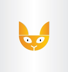 cat head icon design vector image vector image