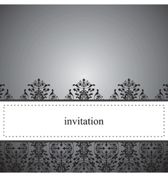 Classic elegant dark card or invitation vector image vector image