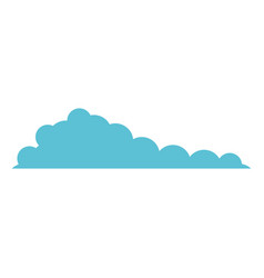 cloud blue extended in white background vector image
