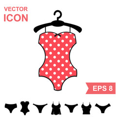 corrective lingerie icon on white background vector image