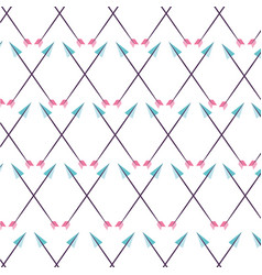 Decorative arrows pattern boho style vector