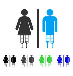 Disabled wc persons flat icon vector