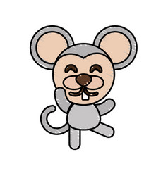 Drawing mouse animal character vector