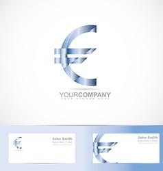 Euro sign money symbol logo vector
