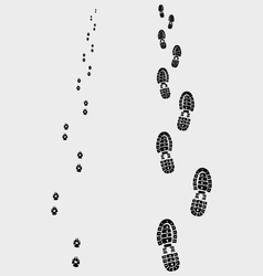 Footprints 2 vector