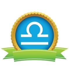 Gold Libra logo vector image vector image