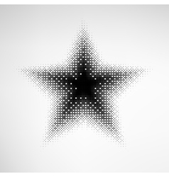 Halftone Star vector image