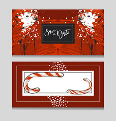 hand drawn graphic modern merry christmas vector image vector image