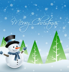 happy snowman design vector image