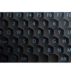 Keyboard with hexagonal keys vector image vector image