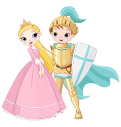 Knight and Princess vector image vector image