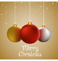 Merry christmas to you greeting card with vector image