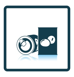 Olive can icon vector image