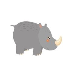 Rhinoceros realistic childish vector