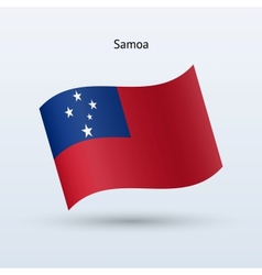 Samoa flag waving form vector image