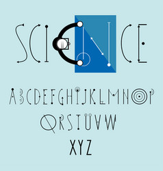 Science logo with decorative font vector