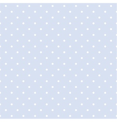 Seamless blue pattern with white polka dots vector image vector image