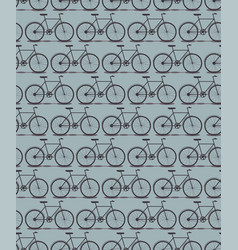 seamless pattern bike silhouette vector image