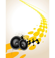 speaker music art vector image