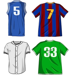 Sports shirts pack vector
