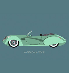 Vintage convertible car vector