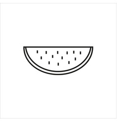water melon simple icon on white background vector image vector image